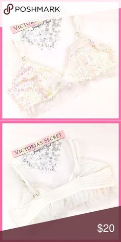 •Victoria's Secret• Darling sequins bralette V I C T O R I A 'S ✦ S E C R E T   ❈ Condition: New with tags  ❈ Reasonable Offers Always Welcome!  ❈ Fast shipping Monday⇢Friday  Same/Next day after your purchase  ❈ Questions? Please comment below,  I will be more than happy to assist you ☻  ❈ Bundles are always encouraged to save on shipping!   ❈Thank you for stopping by! Hope to have you as a customer or returning customer   xo ღ Jennifer Victoria's Secret Intimates & Sleepwear Bras