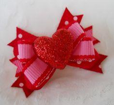 Dog Bow- Sparkle Heart Boutique Dog Bow