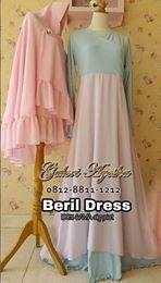 Gaun Pesta Muslimah Beril Syar'i DRess (Ready Stock Dan Pre Order)