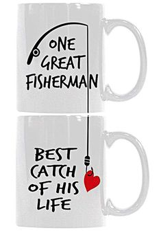 Customize Store Couples Funny Ceramic Coffee Mug Tea Cup Set - One Great  Fisherman 60aaab0b41