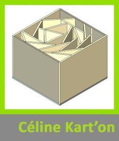 internal support structure of cardboard furniture - pouffe