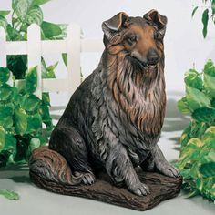 Apollo Statuary Sheltie by Henri Studio - 1930 Sheltie by Henri Studio. Dog Garden Statues, Dog Statues, Dog Sculpture, Sculptures, Miniature Collie, Mini Collie, Life Size Statues, Herding Dogs, Blue Merle