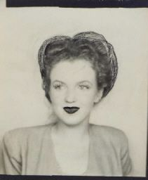 15 year old Marilyn Monroe, doodled over to make bigger hair and lips.