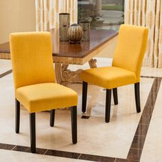 Heath Apricot Fabric Dining Chairs (Set of 2)