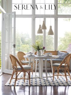 Serena & Lily has the best seat in the house! Explore their dining room collection for more inspiraton.