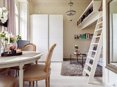 Even though it has only 22 sqm this studio in Sweden has an elegant and practical design