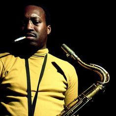 """Hank Mobley photographed by Francis Wolff for Blue Note Records. This photo was on the cover of """"Third Season"""", an album recorded in 1967 but released in Jazz Artists, Jazz Musicians, Francis Wolff, Hard Bop, Musician Photography, Portrait Photography, Thelonious Monk, Miles Davis, Jazz Blues"""