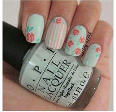 """Képtalálat a következőre: """"vintage flower nails rose"""""""