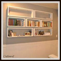 Floating Bookshelves - Craft
