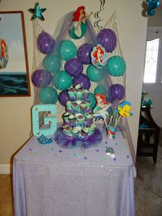 Perfect display for an Ariel Party!