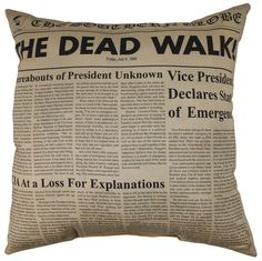 I'm not a walking dead, zombie fan but I have to admit, I love this pillow!!