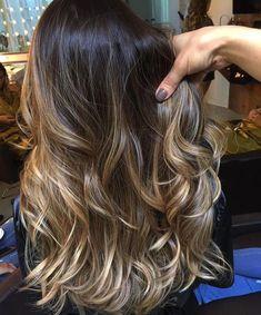 Brown Ombre Hair, Brown Hair Balayage, Blonde Hair With Highlights, Brown Blonde Hair, Balayage Brunette, Ombre Hair Color, Hair Color Balayage, Brunette Hair, Bronde Hair