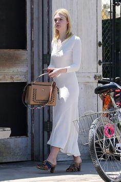Elle Fanning - Outside the Gjusta Cafe in Venice, CA. 17/8/16.