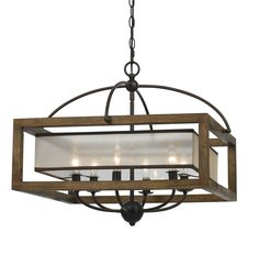 Cal Lighting Mission wood and metal Square Pendant Chandelier. Cal Lighting makes several matching items in this series. Cal Lighting Mission wood and Metal 6 light Pendant/Chandelier Wood And Metal Chandelier, Candle Chandelier, Chandelier Shades, Chandelier Lighting, Chandeliers, Park Lighting, Pergola Lighting, Rustic Lighting, Modern Lighting