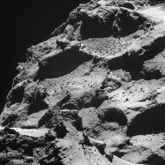 Incredible New Photos Taken From the Surface of a Comet   Image of the comet taken by Rosetta from 10 kilometers away.   ESA/Rosetta/NAVCAM, CC BY-SA 3.0 IGO    WIRED.com