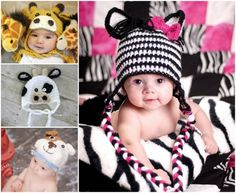 Crochet Animal Hats - lots of FREE Patterns in our post