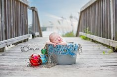 newborn beach photo, baby on beach, newborn photography