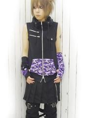 H.T.F Collaborated Flippiy Military Vest Black x Purple. See more at http://www.cdjapan.co.jp/apparel/deorart.html #harajuku #punk