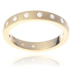 Journee Collection Gold Tone Sterling Silver Cubic Zirconia Eternity Ring (Gold - ) Women's