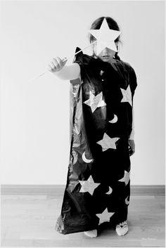 Cómo hacer un disfraz de mago DIY para Halloween con bolsas de basura / How to make magician DIY Halloween costume with garbage bags