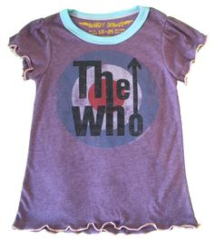 The Who Girlie Tee for baby girl