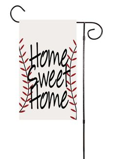 Home Sweet Home Baseball or Softball Garden Flag – Shut The Front Door by Unique Textile Printing