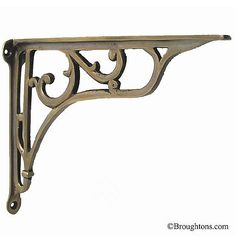 "9 x 7"" Shelf Bracket Antique Satin Brass"