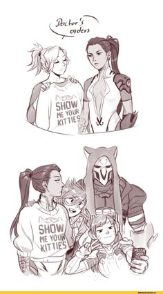 animal hood animal print arm strap arm tattoo armor armored dress body writing bodysuit bracer breasts bunny print cat hood cat print cellphone center opening clothes writing collarbone comic d.va (overwatch) earrings eyes closed facial m Overwatch Mercy, Overwatch Widowmaker, Overwatch Comic, Overwatch Fan Art, Overwatch Digital, Fanart, Soldier 76, Best Games, Funny Comics