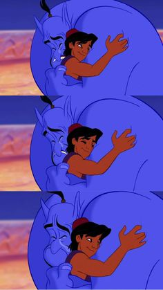 Aladdin - Aladdin and Genie, this gets me in the feels every time, i love this part and movie so much lol