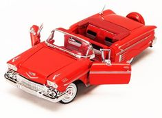 1958 Chevrolet Impala Convertible Showcasts Die Cast  Scale 1:24, Red) Diecast Cars ** L ^^ K*