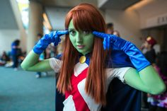 Miss Martian from Young Justice, by Rachel Dunkley | SDCC 2013 #Cosplay