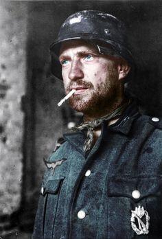German Soldier with Infantry Assault pin (Broken)