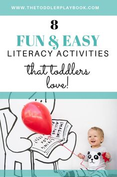 Fun literacy activities and ABC games for toddlers. Plus tips and ideas to help you teach your 2 or 3 year old letter recognition and other early literacy skills at home! Activities For 2 Year Olds, Library Activities, Toddler Learning Activities, Letter Activities, Preschool Activities, Literacy Games, Literacy Skills, Early Literacy, Literacy Stations