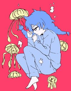 "Princess Jellyfish One of the best, (And cutest) animes I have ever seen "" Remember, Every girl is born a Princess. Some Just Forget Is All"" Princess Jellyfish, Manga Art, Manga Anime, Anime Art, Medusa, Otaku, Fanart, My Little Monster, Anime Life"