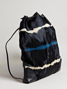Dries Van Noten Cowhide Drawstring Bag  Inspiration Atelier Sarah Jane