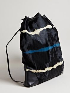 Dries Van Noten Cowhide Drawstring Bag Inspiration Atelier Sarah Jane