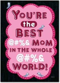 Shoebox: I Swear - Mother's Day Greeting Cards - Hallmark - Heather - Pink : Front