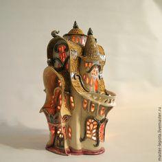 """Купить Дом-подсвечник """"Армель"""". Керамика - сказка, подсвечник, фэнтэзи, Керамика, лепота, глина"""