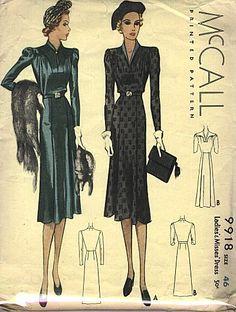 McCall 1930 dress pattern