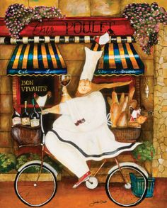 """Chef in Paris by Jennifer Garant (kitchen), 8"""" x 10"""""""