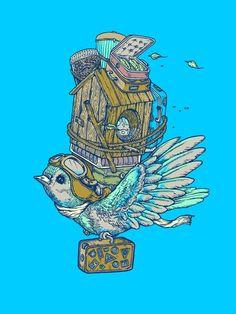 птичка с домиком