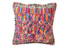 """Embroidered Mexican Pillow Cover 20""""L x 20""""H ($120.00)  $75.00 OneKingsLane.com"""