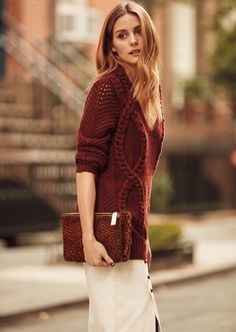 OP is Banana Republic's Global Style Ambassador - Credit: Olivia Palermo Official Estilo Olivia Palermo, Olivia Palermo Lookbook, Olivia Palermo Style, Knit Fashion, Look Fashion, Autumn Fashion, Casual Chique, Quoi Porter, Global Style