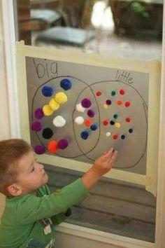Pompom mathmatical skills, hand eye coordination and language skill