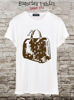 Fashion bag LV t-shirt, pop art t-shirt, design tshirt, handmade t-shirt, custom t-shirt