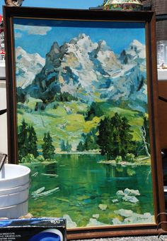 mountain painting - Google Search Under The Table, Mountain Paintings, Google Search, Art, Art Background, Kunst, Gcse Art