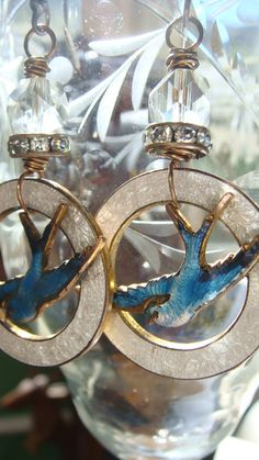 Reconstructed Edwardian Guilloche Dangle Earrings by CobwebPalace