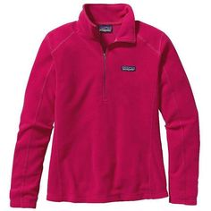 Patagonia Women's Micro D 1/4 Zip ($69) ❤ liked on Polyvore featuring activewear, activewear tops, portofino pink, pink pullover, patagonia, patagonia pullover, sweater pullover and zip pullover