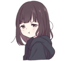It is a cute sticker of kurumi-chan. Anime Neko, Cute Anime Chibi, Chica Anime Manga, Cute Anime Pics, Anime Girl Cute, Kawaii Anime Girl, Anime Art Girl, Chat Kawaii, Kawaii Chan