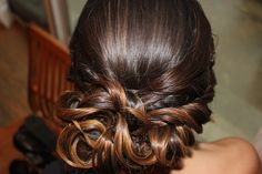 curly homecoming hair hair up do curls